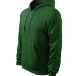 kapucnis-ferfi-pulover-zold