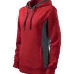 kapucnis-noi-pulover-piros-szurke-betettel