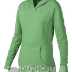 noi-pulover-kapucnis-zold-melirozott